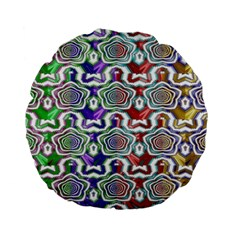 Digital Patterned Ornament Computer Graphic Standard 15  Premium Flano Round Cushions