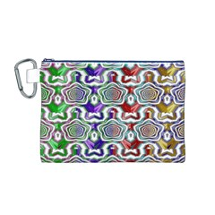 Digital Patterned Ornament Computer Graphic Canvas Cosmetic Bag (M)