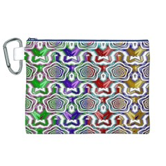 Digital Patterned Ornament Computer Graphic Canvas Cosmetic Bag (XL)