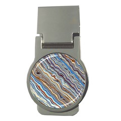 Fractal Waves Background Wallpaper Pattern Money Clips (Round)