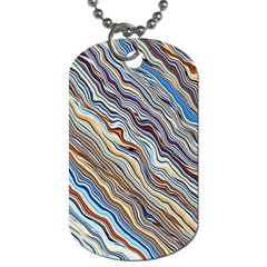 Fractal Waves Background Wallpaper Pattern Dog Tag (two Sides)