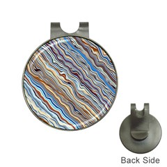 Fractal Waves Background Wallpaper Pattern Hat Clips with Golf Markers