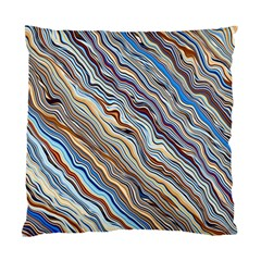 Fractal Waves Background Wallpaper Pattern Standard Cushion Case (two Sides)