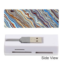 Fractal Waves Background Wallpaper Pattern Memory Card Reader (stick)
