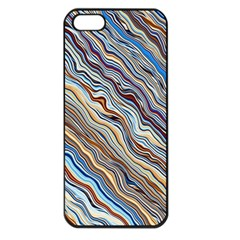 Fractal Waves Background Wallpaper Pattern Apple iPhone 5 Seamless Case (Black)