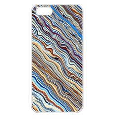 Fractal Waves Background Wallpaper Pattern Apple iPhone 5 Seamless Case (White)