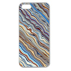 Fractal Waves Background Wallpaper Pattern Apple Seamless iPhone 5 Case (Clear)