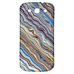 Fractal Waves Background Wallpaper Pattern Samsung Galaxy S3 S III Classic Hardshell Back Case