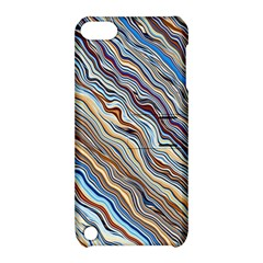 Fractal Waves Background Wallpaper Pattern Apple iPod Touch 5 Hardshell Case with Stand
