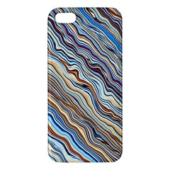 Fractal Waves Background Wallpaper Pattern iPhone 5S/ SE Premium Hardshell Case