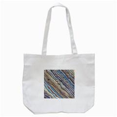 Fractal Waves Background Wallpaper Pattern Tote Bag (White)