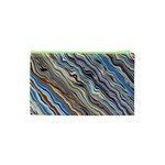 Fractal Waves Background Wallpaper Pattern Cosmetic Bag (XS) Back