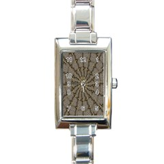Abstract Image Showing Moiré Pattern Rectangle Italian Charm Watch