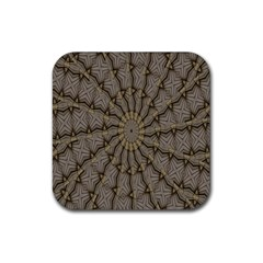 Abstract Image Showing Moiré Pattern Rubber Square Coaster (4 pack)