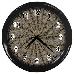 Abstract Image Showing Moiré Pattern Wall Clocks (black)