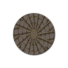 Abstract Image Showing Moiré Pattern Rubber Coaster (Round)