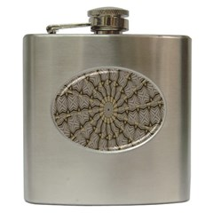Abstract Image Showing Moiré Pattern Hip Flask (6 Oz)