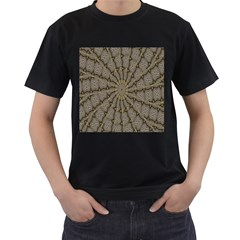 Abstract Image Showing Moiré Pattern Men s T-Shirt (Black) (Two Sided)