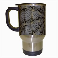 Abstract Image Showing Moiré Pattern Travel Mugs (White)