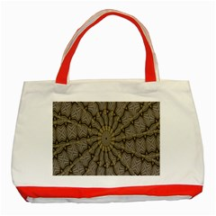 Abstract Image Showing Moiré Pattern Classic Tote Bag (Red)