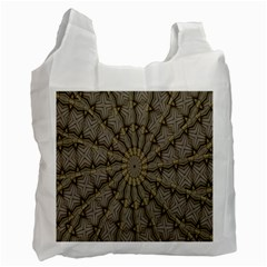 Abstract Image Showing Moiré Pattern Recycle Bag (one Side)
