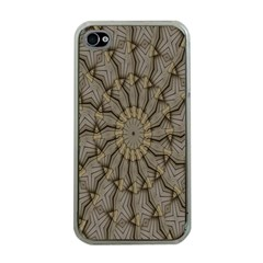 Abstract Image Showing Moir¨| Pattern Apple iPhone 4 Case (Clear)
