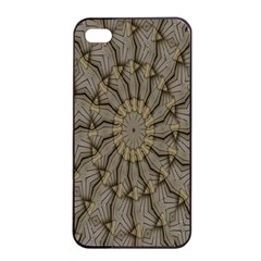 Abstract Image Showing Moiré Pattern Apple Iphone 4/4s Seamless Case (black)