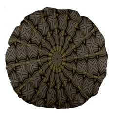 Abstract Image Showing Moiré Pattern Large 18  Premium Round Cushions