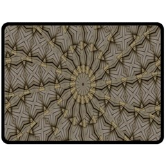 Abstract Image Showing Moiré Pattern Double Sided Fleece Blanket (Large)