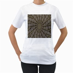 Abstract Image Showing Moir¨| Pattern Women s T-Shirt (White)