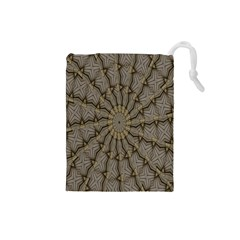 Abstract Image Showing Moiré Pattern Drawstring Pouches (small)