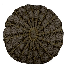 Abstract Image Showing Moiré Pattern Large 18  Premium Flano Round Cushions