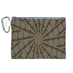 Abstract Image Showing Moiré Pattern Canvas Cosmetic Bag (xl)