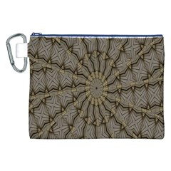 Abstract Image Showing Moir¨  Pattern Canvas Cosmetic Bag (XXL)