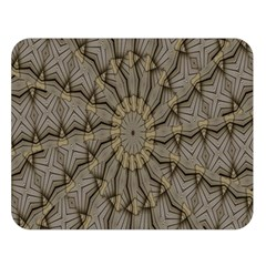 Abstract Image Showing Moir¨| Pattern Double Sided Flano Blanket (Large)