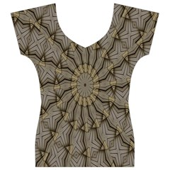Abstract Image Showing Moir¨| Pattern Women s V-Neck Cap Sleeve Top