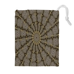 Abstract Image Showing Moiré Pattern Drawstring Pouches (extra Large)
