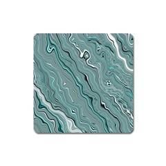 Fractal Waves Background Wallpaper Square Magnet