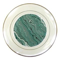 Fractal Waves Background Wallpaper Porcelain Plates