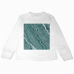 Fractal Waves Background Wallpaper Kids Long Sleeve T-Shirts