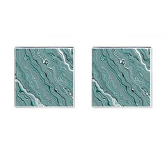 Fractal Waves Background Wallpaper Cufflinks (Square)