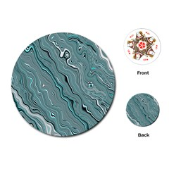 Fractal Waves Background Wallpaper Playing Cards (round)