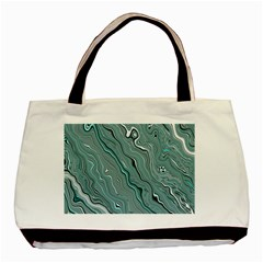 Fractal Waves Background Wallpaper Basic Tote Bag