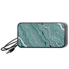Fractal Waves Background Wallpaper Portable Speaker (Black)