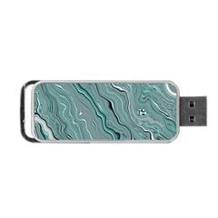 Fractal Waves Background Wallpaper Portable Usb Flash (one Side)