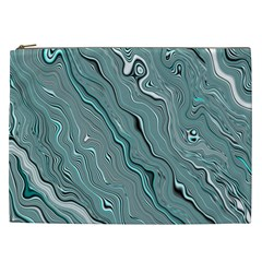 Fractal Waves Background Wallpaper Cosmetic Bag (XXL)