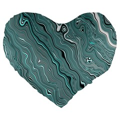 Fractal Waves Background Wallpaper Large 19  Premium Heart Shape Cushions