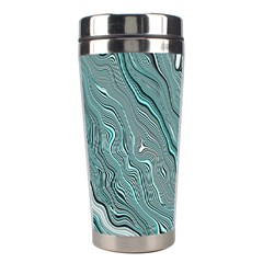 Fractal Waves Background Wallpaper Stainless Steel Travel Tumblers