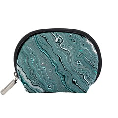 Fractal Waves Background Wallpaper Accessory Pouches (Small)