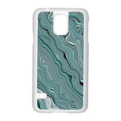Fractal Waves Background Wallpaper Samsung Galaxy S5 Case (White)